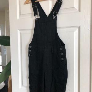 Jeans - black overalls